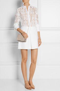 Valentino bag, Miu Miu skirt, Erdem shirt, Gianvito Rossi shoes