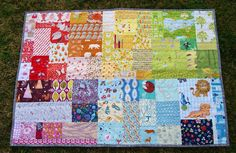 Rainbow Patch Baby Quilt