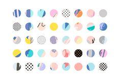Happy Circles by Lera Efremova on @creativemarket
