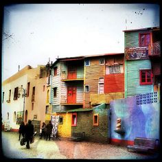 Caminito, La Boca, Buenos Aires, Argentina. South America, Places, Painting, Travel, Ideas, Argentina, Buenos Aires, Viajes, Painting Art