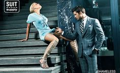 No! This is not a '50 Shades Of Grey' ad, this is ad by men's suit maker Suit Supply. All their ads from the 2010 campaign were banned from Facebook and other online sites.