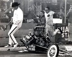 Drugstore CowboyThis was the clutch explosion that clipped some of Big Daddy's toes and prompted him to pursue the development of the rear engine dragster.