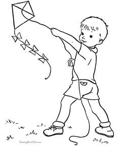 Free Printable Kite Coloring Pages For Kids