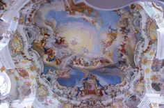 Fresco in the Wies Church, Bavaria
