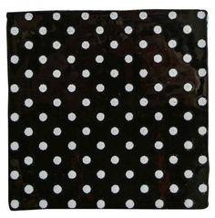 Carrelage mural noir à petits pois blancs 13x13 cm  - AC0704008