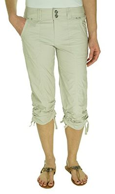 85a7a93a415 INC International Concepts Regular Fit Studded Drawstring Cropped Pant Toad  Beige 2 - http
