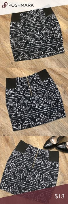 Stretchy Mini Skirt Stretchy Mini Skirt from Charlotte Russe perfect for going out or date night. Cute zipper in the back.   *shop the heels in my closet also.😊 Charlotte Russe Skirts Mini