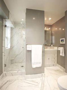20 Luxurious Bathroom Makeovers From Our Stars. Marble Tile ...