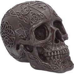Celtic Iron 16cm Skull Head Grey Gothic Figure Ornament Figurine Decor Gifts #AstraBlueGiftware #skullhead #sceleton #gothic