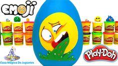 Huevo Sorpresa Gigante de Ralph el Emoji Vomitador de Plastilina Play Do...