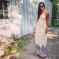 Wearing the perfect maxi from @shopthemint