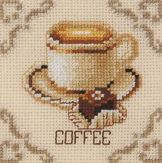 Coffee Cross Stitch- reminds me of my mom. She loved to cross stitch ~~ PAGE 1 OF 2