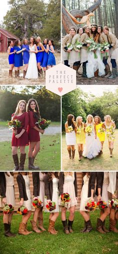 Wedding Style Trend: Bridesmaids in Boots!