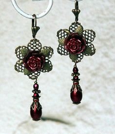 Vintage flower Dangle Earrings