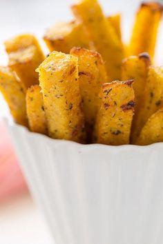 This sounds yummi ...Crispy, Perfect Baked Polenta Fries with Garlic Tomato Sauce #gloriousfood