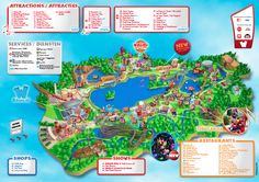 Attractions include 40 rides and shows, and a covered aquatic park