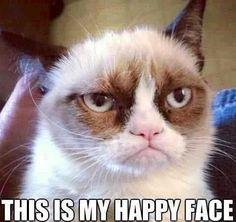 Grumpy cat's happy face meme