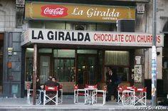 """""""""""LA GIRALDA""""""""fundada en 1951, esta en pleno calle Corrientes, y si bien no tiene mucha facha, puedo asegurar, que el mejor submarino y chocolate con churros, es el que preparan ellos. Buenos Aires   Argentina"""