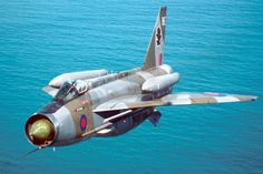 English Electric Lightning with over wing fuel tanks