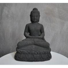 black stone lave buddha