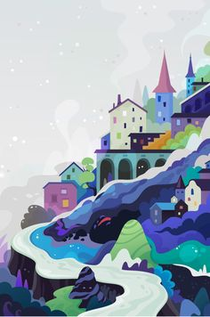 I love these colors. various works 2012 by zutto , via Behance