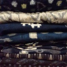 Delivery days are awesome days! Just got some vintage textiles in from Japan for some new projects... #kirikomade #fabric #textiles #ikat #kasuri #indigo #japanesetextiles #boro