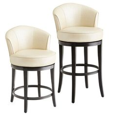 Let's face it. Bar stools that can spin around in circles are way cooler than those that can't—especially ones as comfy as our Art Deco-inspired Isaac Swivel Bar Stool. With 360 degrees of pure turning power, you can survey all comers from the cushioned perch of your sleek, buttery-soft twirl-mobile.