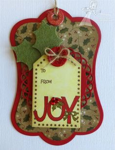 I like the felt holly leaves on this tag