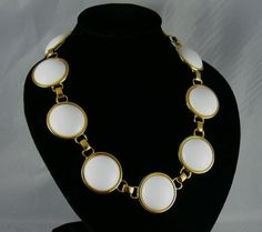 Vintage Monet White Lucite Link Necklace by jujubee1 on Etsy, $18.00