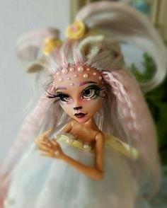 Repainted and rerooted Monster high doll OOAK 3D eyelashes.by Mia'sDaydream…