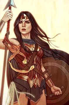 Variant cover art by Jenny Frison for 'Wonder Woman' #18.