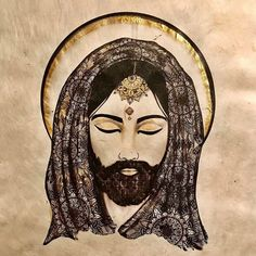 The latest drawing of a series of spiritual masters: the golden  Jesus.