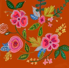 Gorgeous artwork by Cathy Nichols featuring her new Boho Patterns stencil from StencilGirl.