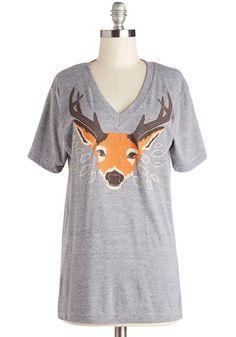 Girl Fox Tee in Deer