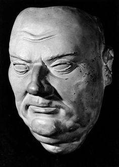 Death mask of Martin Luther (1483-1546).  Haunting death masks record the faces of the departed