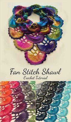 Crochet Beautiful Fan Stitch - Pretty Ideas