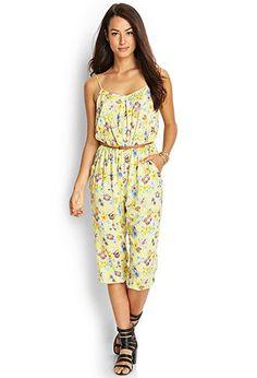 Belted Floral Jumpsuit | FOREVER21 - 2000062743