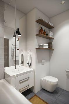 baño pequeño color blanco loft