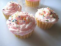 cupcake soap---my sister is making these; she is so amazing!