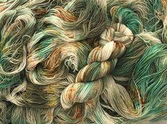 Sea Jasper. Witch Candy Yarn colorway.