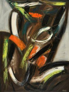 João Vieira Untitled 149)01 1986 Painting x Canvas 130 cm x 97 cm  #JoãoVieira #Artist #Art #Oil #Painting #Color #Portugal #Gallery #SaoMamede #Artwork #Lisbon