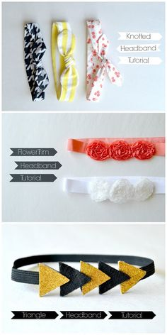 Knotted Headband Tutorials (plus 2 more) for baby.