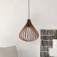 wood Pendant Light lasercut Chandelier lamp Handmade by DEZAART