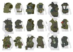 Vest Designs from Metal Gear Online