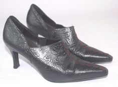 VERY RARE CALZADOS MONZO Womens Bleack Embossed Leater Shoes Sz 7 #CALZADOCMONZO #FashionAnkle #Casual