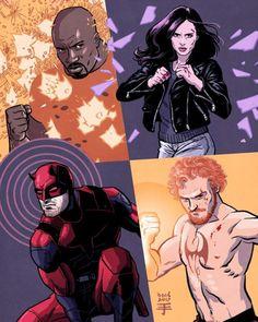 Marvel's The Defenders (Netflix) - Visit to grab an amazing super hero shirt now on sale! - Visit to grab an amazing super hero shirt now on sale! Batwoman, Nightwing, Marvel Defenders, Jessica Jones, Dc Comics, Ms Marvel, Marvel Universe, Comic Books Art, Comic Art