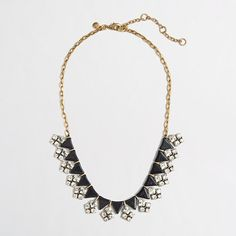J.Crew Factory - Factory arrow and crystal clusters necklace