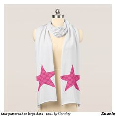 Star patterned in large dots - rose reds scarf