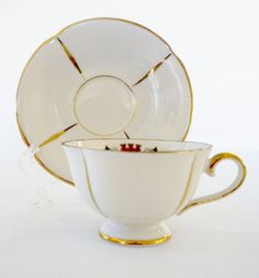 Berlin Tea Cup and Saucer Bavarian Tea Cup and by oldandnew8, $9.00