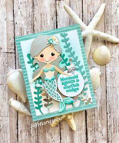 Spellbinders July card kit card design by Diy Crafts For Girls, Paper Crafts For Kids, Washi Tape Cards, Spellbinders Cards, Card Making Kits, Cricut Cards, Marianne Design, Card Kit, Cool Cards